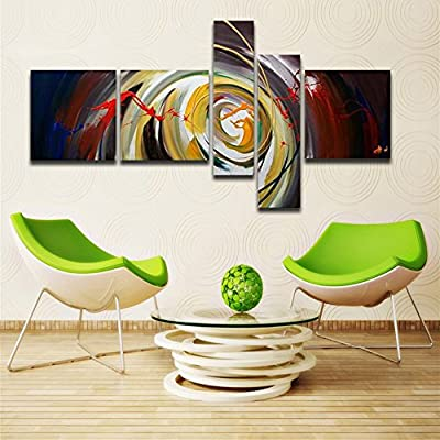 100% Hand Painted Canvas Oil Painting Modern Abstract Wall Painting Canvas Art for Home Decoration Picture 5pcs