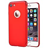 iPhone 7 Case, VANSIN 3 In 1 Ultra Thin and Slim Hard Case Coated Non Slip Matte Surface with Electroplate Frame for Apple iPhone 7 (4.7'')(2016) -- All Red Version