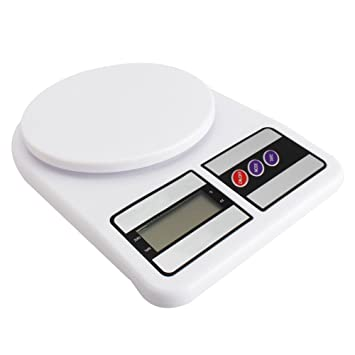 Báscula digital de cocina electrónica lcd botón Tara Casa Pesa de 1 gr a 7 kg: Amazon.es: Hogar