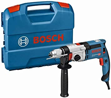 Bosch Professional GSB 24-2 - Taladro percutor (1100 W, 2 velocidades, 3000 rpm, Ø max perforaci...