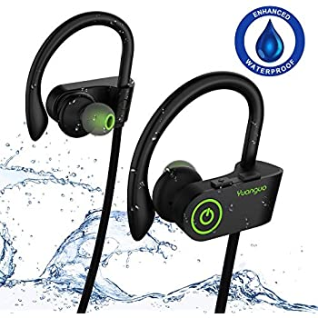 528fdb3bb91 Bluetooth Headphones, IPX7 Waterproof HolyHigh Wireless Earbuds Headphones  with Mic,Surround Stereo/Secure Fit, Sport Running Workout Bluetooth  Wireless ...