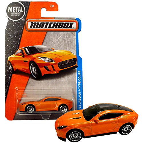 Matchbox Year 2016 MBX Adventure City Series 1:64 Scale Die Cast Metal Car #15 - Orange Color '15 JAGUAR F-TYPE SPORT COUPE DJV60