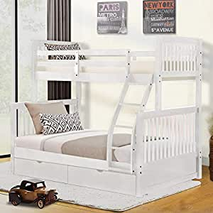 Amazon Com Harper Bright Designs Twin Over Full Bunk Bed With