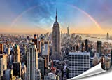 Photo Wallpaper New York City Chrysler Building HD XXL 200 x 140 cm High Definition Wall Decoration Picture Wall Design | Photo Poster Manhattan Downtown USA |, Paper, 140 cm x 100 cm - 1 Teil