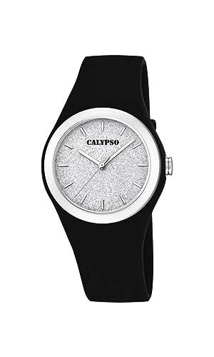 Calypso Watches Reloj Analógico para Mujer de Cuarzo con Correa en Plástico K5754/6: Amazon.es: Relojes