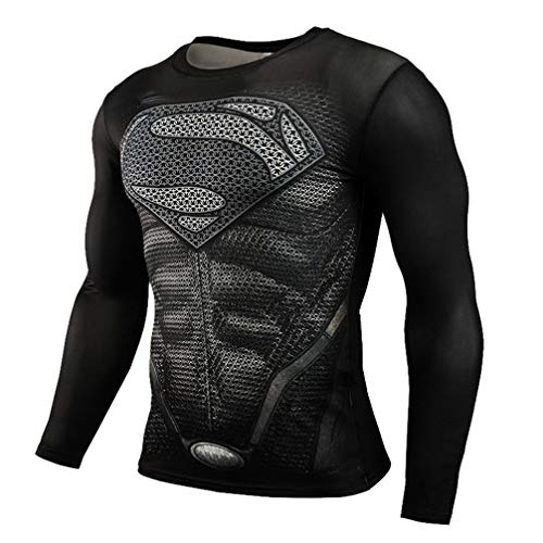 Dri-fit Heros Themed Compression Workouts Gear Long Sleeve Graphic Shirt M]()