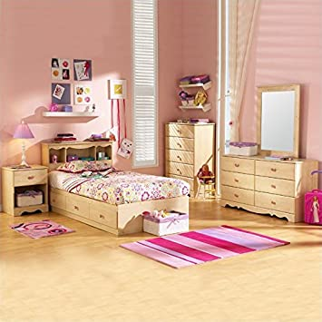 South Shore Furniture Lily Rose Kids Twin Bed Captain Storage Bedroom Set Amazon Ca Home Kitchen