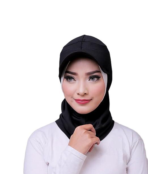 ❤ ATTIQA - Hijab deportivo para mujeres musulmanas con velo - Velo bufanda turbante pashmina gorro chal ...