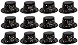 New Years Eve Party Hats - 12-Pack Plastic Top Hats Holiday Supplies, Happy New Year Black with Confetti Design, Festive Party Favors, One Size Fits Most Adults, 11.25 x 9.75 x 4.6 Inches