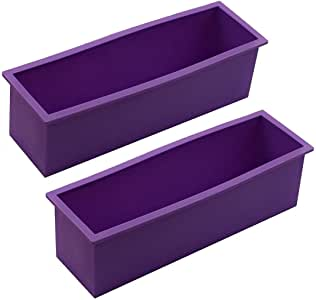 Flexible Rectangular Soap Silicone Mold Candle Making for Homemade Soap Crafts-Set of 2