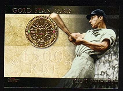 2012 Topps Series 1 Gold Standard GS 18 Joe DiMaggio New ...