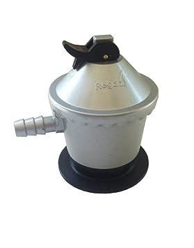Grifo regulador de gas con presión de salida 28 (gr/cm^2) para bombona naranja tipo repsol: Amazon.es: Bricolaje y herramientas