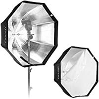 CRAPHY 32/80cm Octagonal Speedlight, Studio Flash, Speedlite Foldable Umbrella Softbox Reflector with Carrying Bag for Portrait or Products Photography