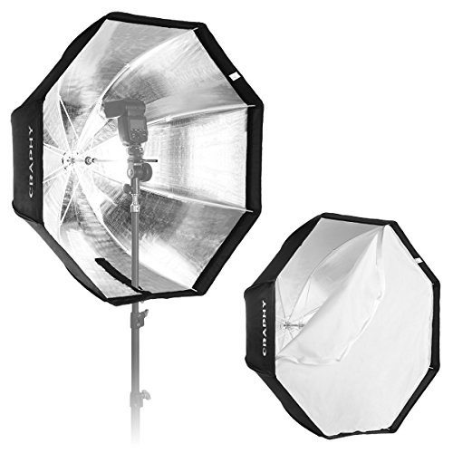 CRAPHY 32″/80cm Octagonal Speedlight, Studio Flash, Speedlite Foldable Umbrella Softbox Reflector with Carrying Bag for Portrait or Products Photography 51OL1hMfWWL