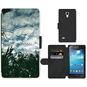 Super Stella Cell Phone Card Slot PU Leather Wallet Case // M00149806 Water Reflection Lake Clouds River // Samsung Galaxy S4 Mini i9190