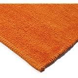 MonBeauTapis 500524 Chenille Tapis Coton Orange 80 x 50 cm