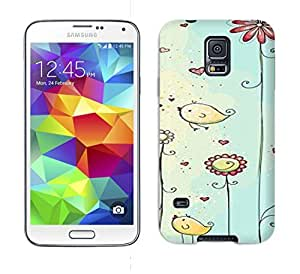 Tpu Phone Case With Fashionable Look For Galaxy S5 - Two Cute Birds