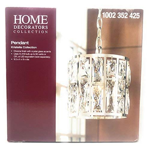 - Home Decorator Collection Pendant Chandelier Chrome Finish Kristella Collection Crystal Glass Accents
