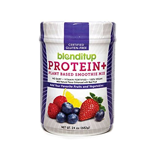 Berry Protein Powder Vegan Smoothie Mix With Berries (Strawberry, Raspberry, Blueberry) Gluten Free, GMO Free, Dairy Free - Nutritional Supplement - Nature Made - Kosher Food - 24 Oz by BlendItUp (Extreme Smoothie Chocolate)
