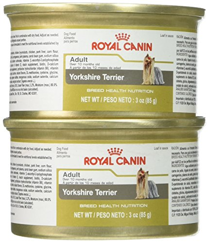 Royal Canin Breed Health Nutrition Yorkshire Terrier Loaf In Sauce Dog Food (Pack of 4/1), 3 oz