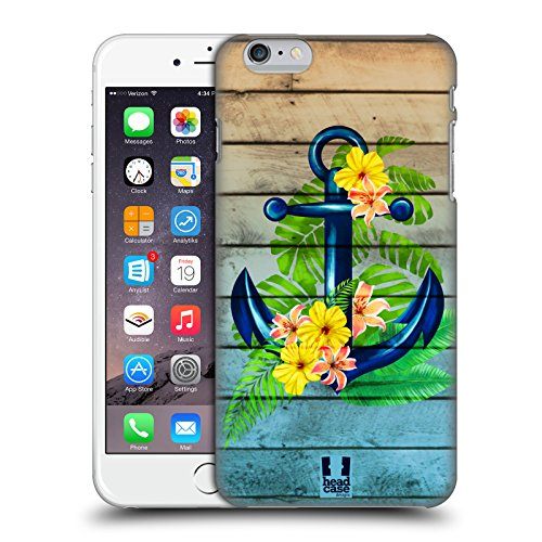 Head Case Designs Tropical Anchors and Florals Hard Back Case Compatible for iPhone 6 Plus/iPhone 6s Plus