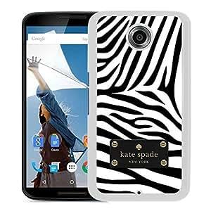 Unique Designed Kate Spade Cover Case For Google Nexus 6 White Phone Case 153