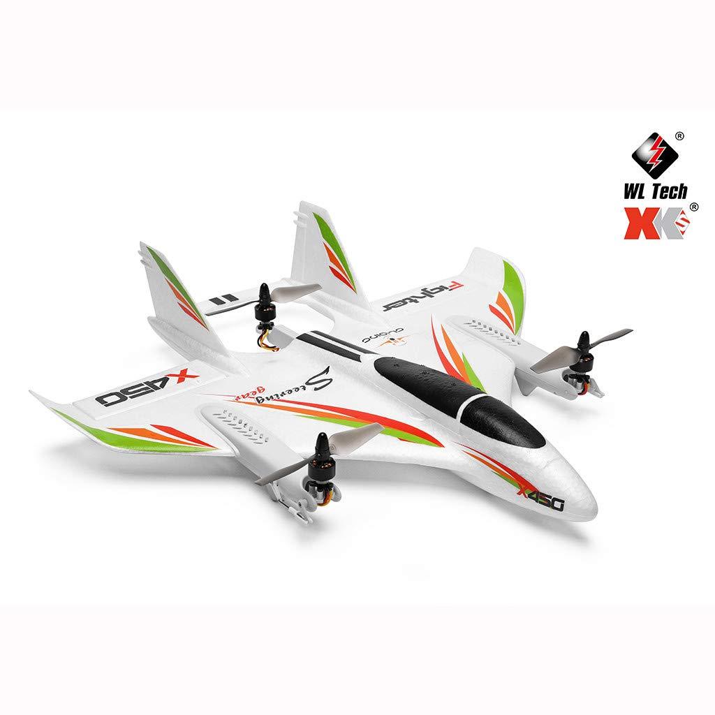 CUEYU WLToys 450 RC Segelflugzeug,2.4G 6 Kanal WiFi FPV Brushless RC Senkrechtstart Landedrohne,Ideal f/ür Anf/änger und Experte