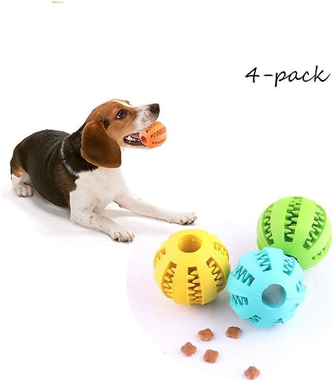 Juguetes Perro Inteligencia Limpieza De La Bola para Mascotas Pelota Perro Juguete De Goma Masticar Mascotas para Mascotas Perros Masticar Jugar Traning Ejercicio: Amazon.es: Hogar