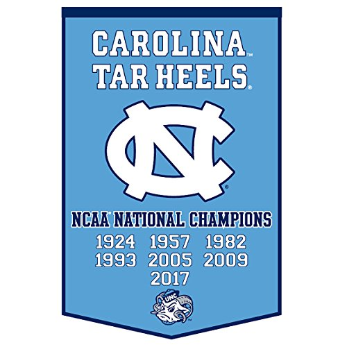 Winning Streak University of North Carolina Tar Heels 7 Time National Champions Dynasty Banner