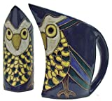 Mara Ceramic Stoneware 32 Oz. Owl Curved Pitcher