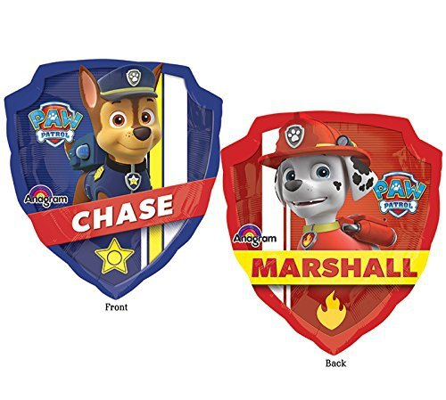 Character Nickelodeon Paw Patrol 'Chase & Marshall' 27 Inch Balloon Foil Party Accessories
