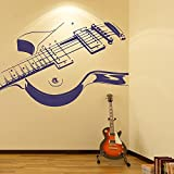 azutura Electric Guitar Wall Sticker Rock Music Wall Decal Kids Bedroom School Decor available in 5 Sizes and 25 Colours Large Black