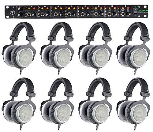 8) Beyerdynamic DT-880-PRO-250 Studio Monitoring Headphones+Mackie Headphone Amp