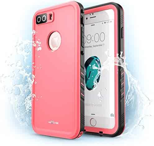 iPhone 7 Plus Case, NexCase Waterproof Full-body Rugged Case with Built-in Screen Protector for Apple iPhone 7 Plus 5.5 inch 2016 Release (Pink)