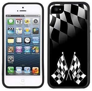 Checkered Flags Racing Handmade iPhone 5C Black Case