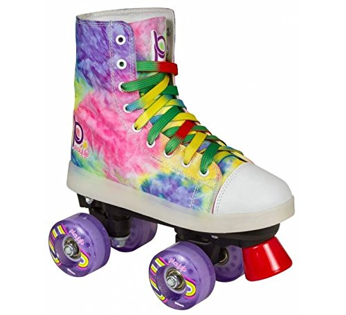 Playlife New Funky Tie-Dye LED Light Up Quad Skates (EU 38 / US 07) by Playlife