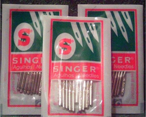 Singer (2045) Home Sewing Machine Needles Assorted Sizes # 9,14,16,18, 40 Pack