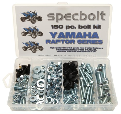 (150pc Specbolt Yamaha Raptor 600 660 700 Bolt Kit for Maintenance & Restoration OEM Spec Fasteners ATV Quad also good for 80 90 125 250 350)