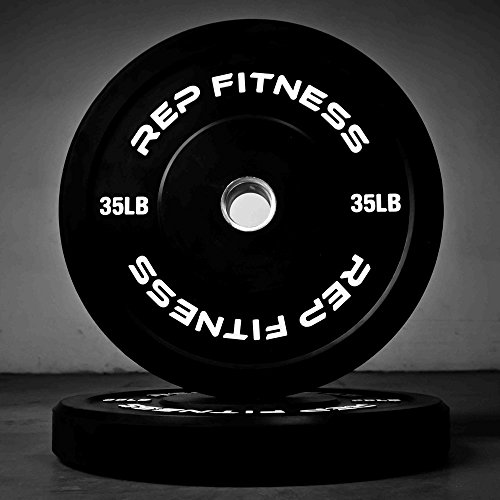 Rep Bumper Plates for Strength and Conditioning Workouts and Weightlifting 35 lb Pair by Rep Fitness (Image #1)