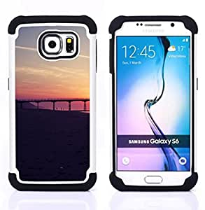 - San Francisco Sunset/ H??brido 3in1 Deluxe Impreso duro Soft Alto Impacto caja de la armadura Defender - SHIMIN CAO - For Samsung Galaxy S6 G9200