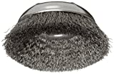 Weiler Wire Cup Brush, Threaded Hole, Steel, Crimped Wire, 6'' Diameter, 0.02'' Wire Diameter, 5/8''-11 Arbor, 1-1/4'' Bristle Length, 6600 rpm (Pack of 1)