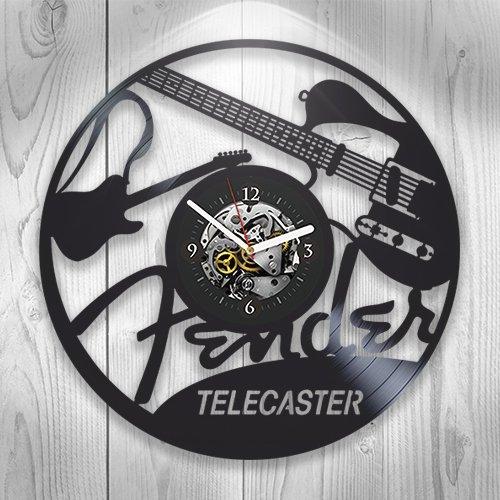 Kovides Vinyl Clock Music, Guitar, Hobby, Wall Decor, Rock Music, Modern Art, Handmade Gift, Unique Design, Band, DJ, Home Decoration, Pop, Gift Ideas For Woman, Gift For Man, Room Decor