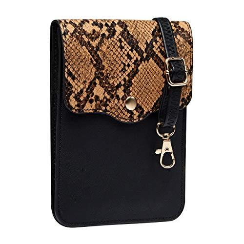 Heaye Crossbody Cell Phone Purse Shoulder Bag for Women with Card Slots Wallet Snake Print Small