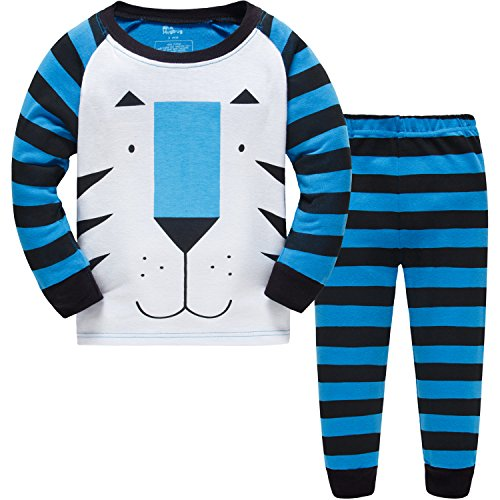 Hugbug Toddler Boys Tiger Pajamas  Multicoloured 6 Tall ()