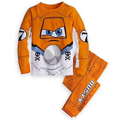 [Disney Store Plane Dusty Crophopper Costume Boy 2PC Long Sleeve Pajama Set Size 5] (Costumes By Dusty)