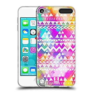 Head Case Designs Colourful Bash Watercoloured Tribal Patterns Soft Gel Back Case Cover for Apple iPod Touch 5G 5th Gen 6G 6th Gen