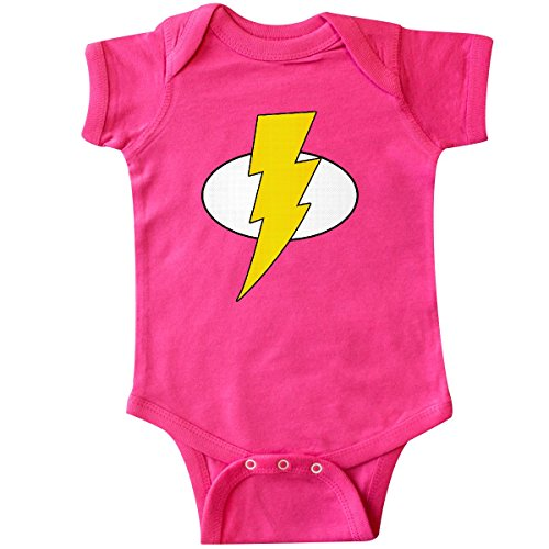 inktastic Superhero Baby Lightening Bolt Infant Creeper 18 Months Hot Pink -