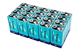 20 Pieces of Tenergy 9V 250mAh NiMH high Capacity Rechargeable Batteries