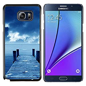 LECELL--Funda protectora / Cubierta / Piel For Samsung Galaxy Note 5 5th N9200 -- Sunset Beautiful Nature 81 --