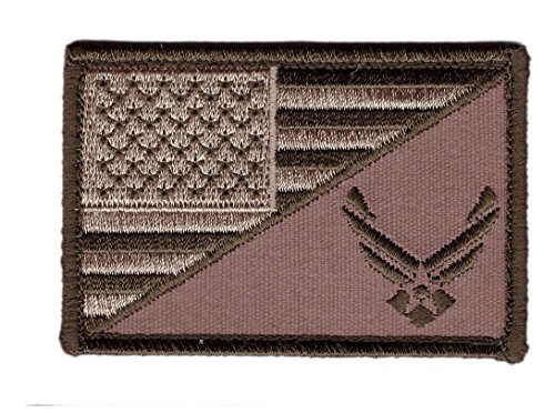 Hook Coyote Brown USAF Airforce Morale Tactical USA Flag Pat